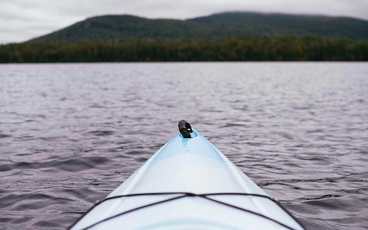Kayaking in open water