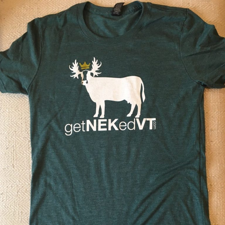getNEKedVT CowMoo Domain Tee in Green Front